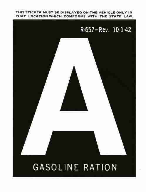 gas rationing A letter
