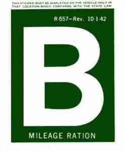 gas rationing B