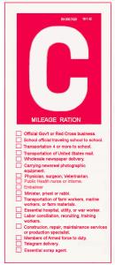 gas rationing C