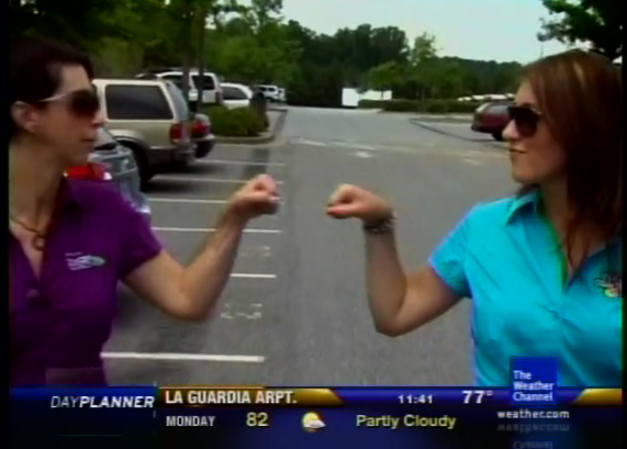 Lauren Fix and Shelby Fix on The Weather Channel