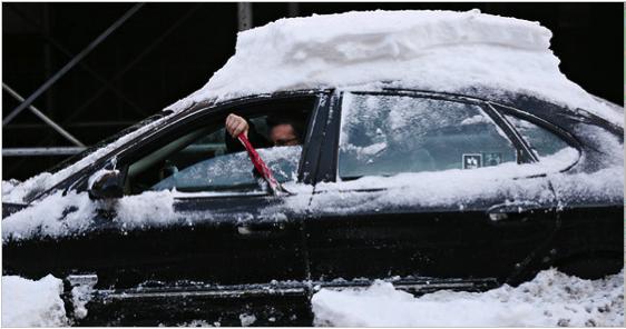 brush off snow car