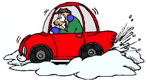 cold snow car cartoon