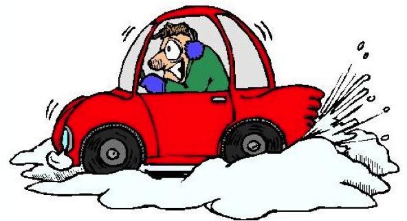 cold snow car cartoon