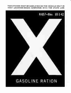 gas rationing X