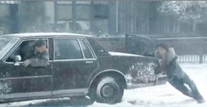 Flat tire snow