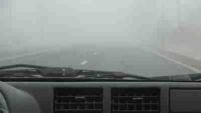 foggy windshield