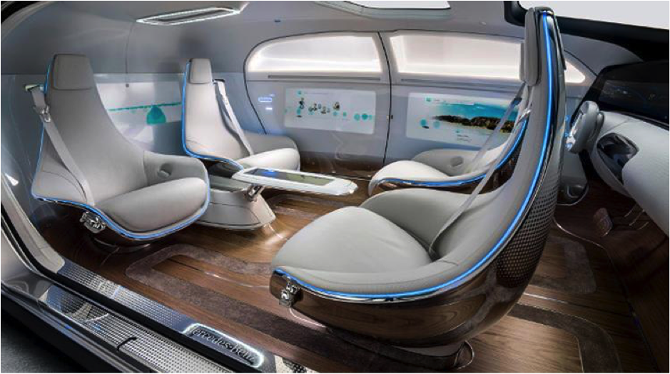 Mercedes autonomous interior future