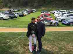 Lauren and Paul Fix at the Concours d'Elegance annual event