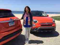 Lauren Fix test drive Test driving the new 2015 Fiat 500 X in Malibu