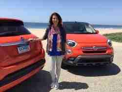 Lauren Fix test drive Test driving the new 2015 Fiat 500 X in Malibu