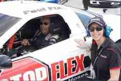 Race car driver Paul Fix (http://www.paulfix.com) and team manager Lauren Fix racing at Homestead Raceway, FL.