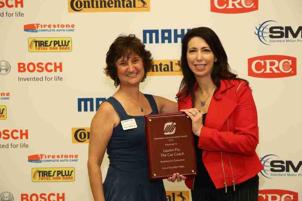 "Lauren Fix won the 2015 Automotive Communications Awards for ""Best YouTube Video."" Read more about the award - https://laurenfix.com/article/lauren-fix-wins-2015-automotive-communication-award/"
