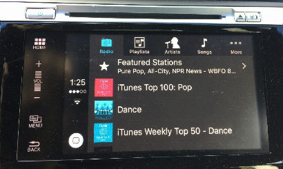 Apple CarPlay in the 2016 Honda Accord