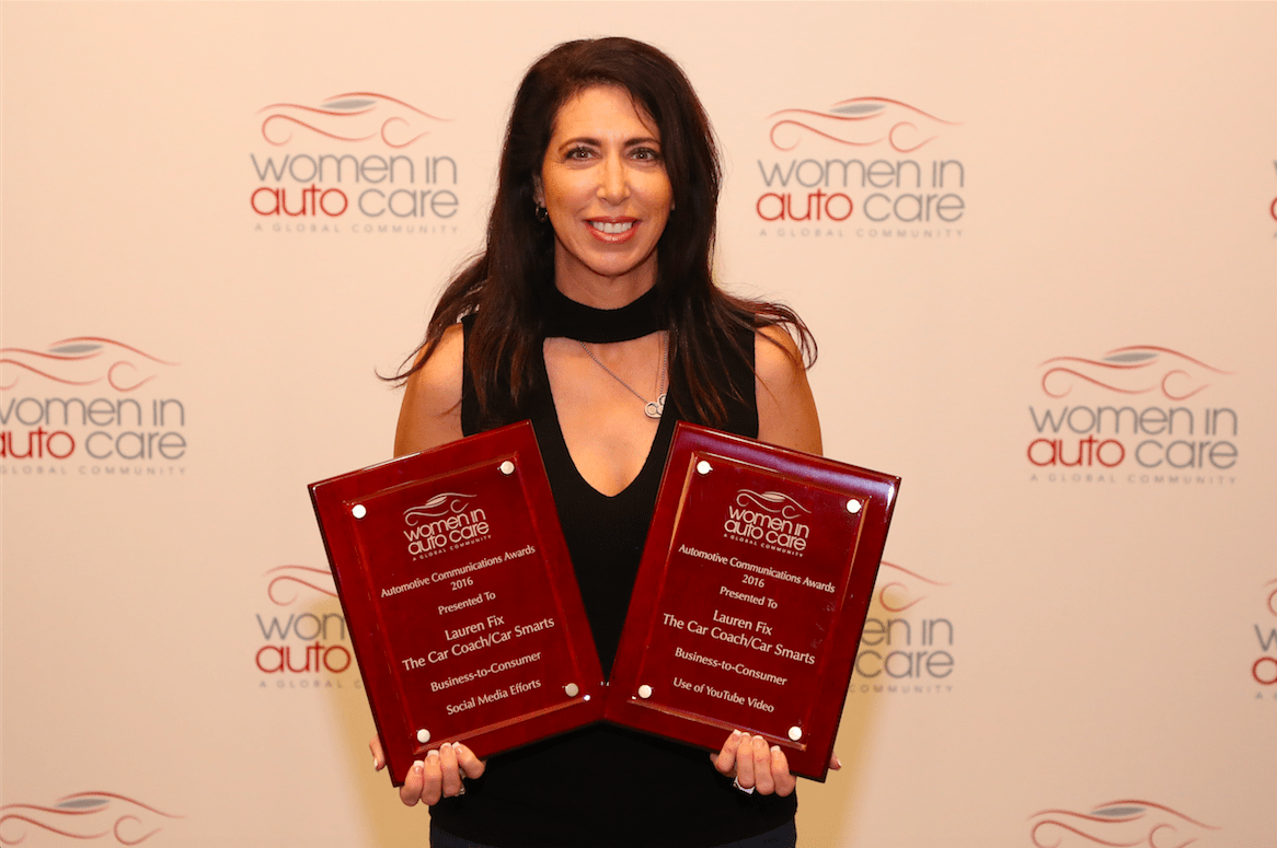 """The Car Coach""® Lauren Fix Wins Two 2016 Automotive Communication Awards"