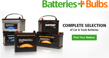 Batteries and Bulbs automotive