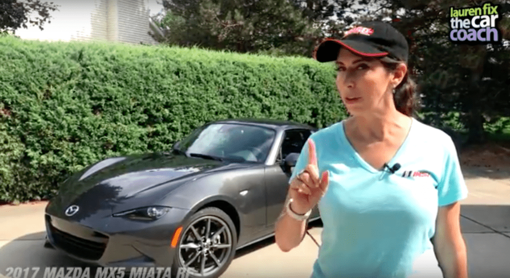2017 Mazda MX-5 Miata RF Car Review by Lauren Fix, The Car Coach®