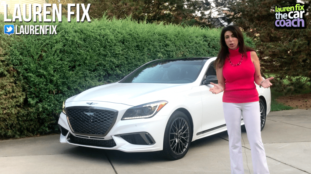 2018 Genesis G80 Sport Car Review by Lauren Fix, The Car Coach®